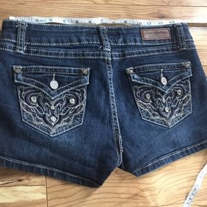 Love Culture Jean shorts size M bling jewels